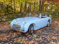 Highlight for album: Our Iris Blue 1960 Austin-Healey Sprite