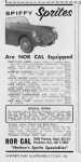Original Ad  Sports Car Illustrated Oct 1960