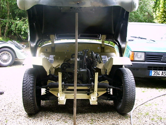Motor in after painting engine bay