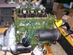 Engine cleaned.  Compression fair so no rebuild.  Ribcase. Rebuilt distributor. Oil filter.