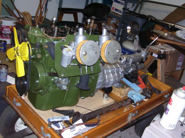 Rebuilt HS2s-o/s shafts. 1098 flywheel, clutch, T/O bering.  New U joints.  1275 Exhaust manifold.