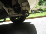 Midget tow eyes.  Very useful for strapping bug to trailer.