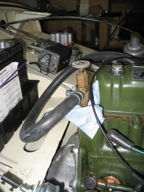 Heater valve leaks.