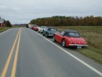 A pretty lineup of cars