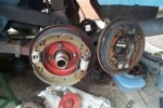 Replicas of the Sebring-type brakes.  Wider shoes and bigger diameter.